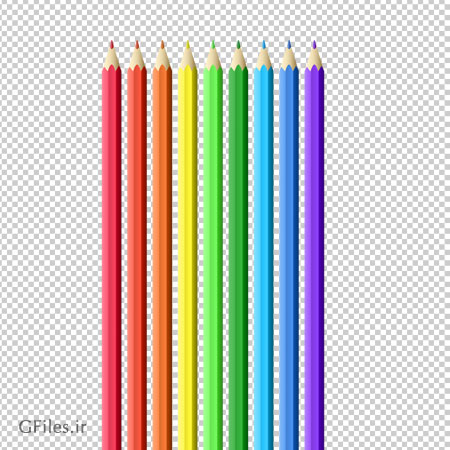 دانلود مدادهای رنگی در نه (9) رنگ بصورت فایل ترانسپرنت و بدون بکگرند