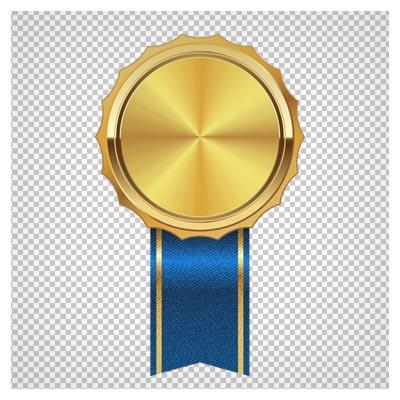 دانلود تصویر نشان افتخار طلایی کارتونی بصورت فایل بدون پس زمینه و دوربری شده