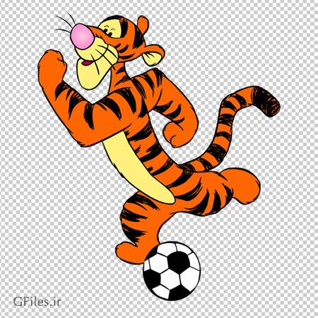 دانلود فوتبال بازی کردن ببری (دوست پو ) فاقد بکگرند و دوربری شده