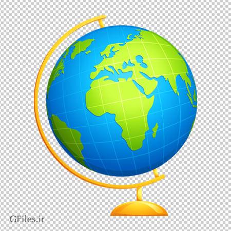 دانلود کره زمین رومیزی (کره جغرافیایی کارتونی) با فرمت png و بدون پس زمینه