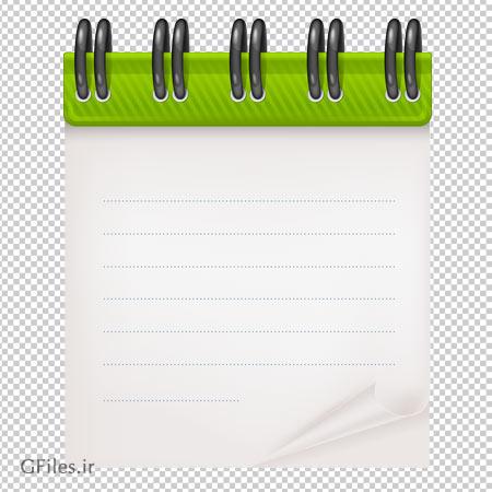 دانلود دفترچه یادداشت فنری کوچک ترانسپرنت و بدون پس زمینه