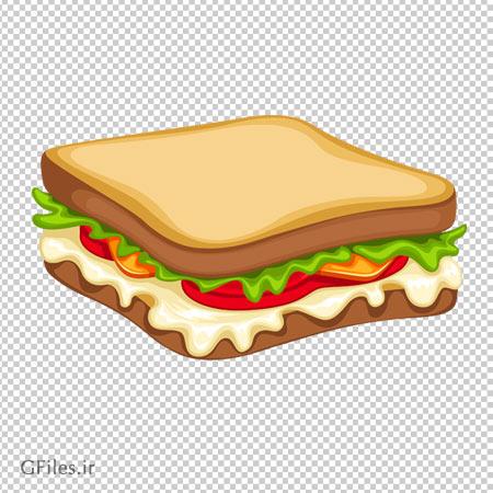 دانلود ساندویچ گوشت با نان توست با فرمت png و بدون پس زمینه