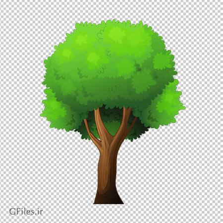 درخت پر شاخ و برگ جنگلی به صورت ترانسپرنت با پسوند png