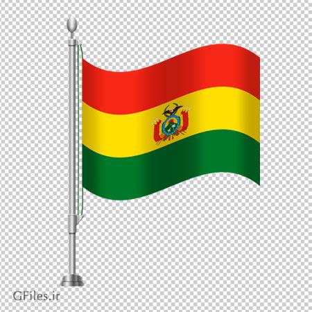 دانلود فایل png پرچم ایستاده رومیزی بولیوی دوربری شده