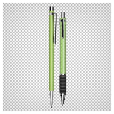 فایل png و بدون پس زمینه مداد و اتود سبز طرح دار