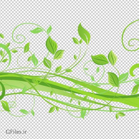 دانلود طرح برگ و گیاه بهاری با فرمت png بدون پس زمینه