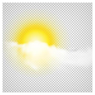 دانلود طرح خورشید پشت ابر بزرگ بدون پس زمینه و پسوند png