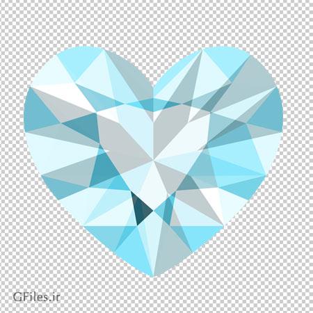 دانلود الماس قلبی با فرمت png و فاقد بکگرند