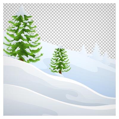 تصویر پس زمینه تپه های برفی با فرمت png و بدون پس زمینه