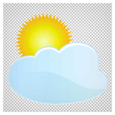 دانلود خورشید بیرون زده از پشت ابر دوربری شده و بدون پس زمینه