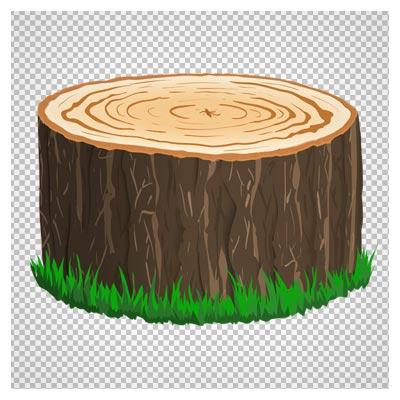 دانلود تنه درخت بریده شده بدون پس زمینه با فرمت png