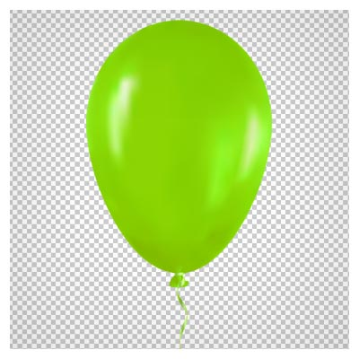 فایل دوربری شده بادکنک سبز با فرمت png