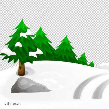 فایل دوربری شده مسیر برفی با فرمت png و فاقد بکگرند