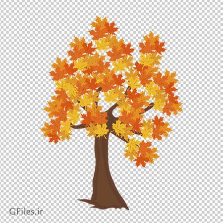 درخت فایل دوربری شده درخت چنار پاییزی با فرمت png بدون پس زمینه