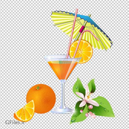 دانلود آب پرتقال تزئین شده بدون پس زمینه و فاقد بکگرند