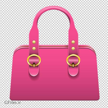 دانلود فایل PNG کیف دستی زنانه با رنگ صورتی دوربری شده