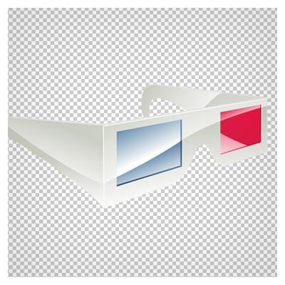 فایل دوربری شده عینک سه بعدی با فرمت png