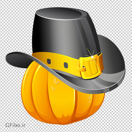 دانلود فایل PNG کدوی کلاه به سر به صورت فایل ترانسپرنت