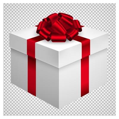 باکس هدیه سفید کارتونی ، دانلود بصورت فایل دوربری شده فاقد بکگرند