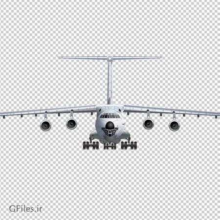 تصویر هواپیمای باربری چهار موتوره ، دانلود بصورت فایل دوربری شده بدون بکگرند