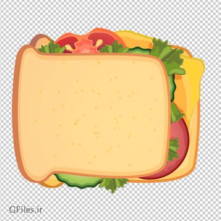 تصویر ساندیچ کالباس و پنیر بدون پس زمینه
