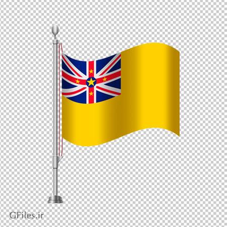 پرچم ساده رومیزی نیووی فاقد بکگرند با پسوند png