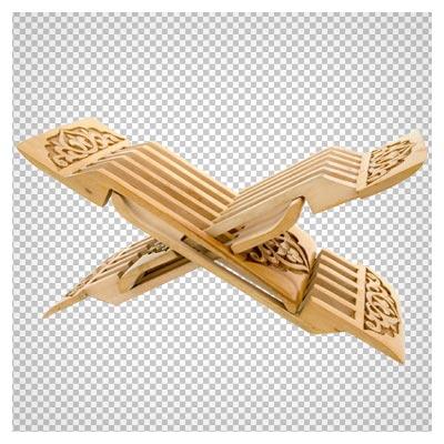 تصویر PNG رحل چوبی قرآن با کیفیت بالا و دوربری شده