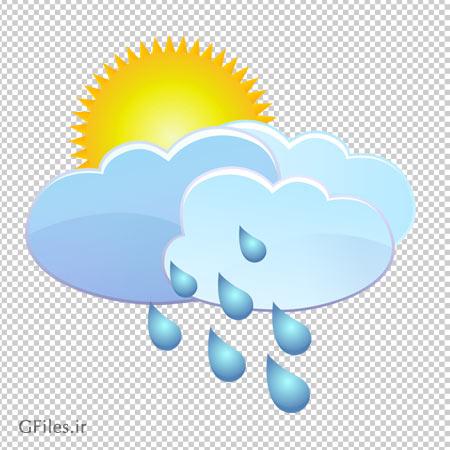 فایل ترانسپرنت با فرمت png خورشید پشت ابرهای بارانی