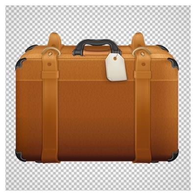دانلود ساک و چمدان مسافرتی چرمی اتیکت دار بدون پس زمینه