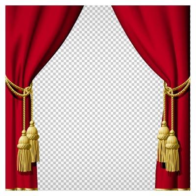 دنلود تصویر دوربری شده پرده قرمز دو طرفه مجلسی با فرمت png