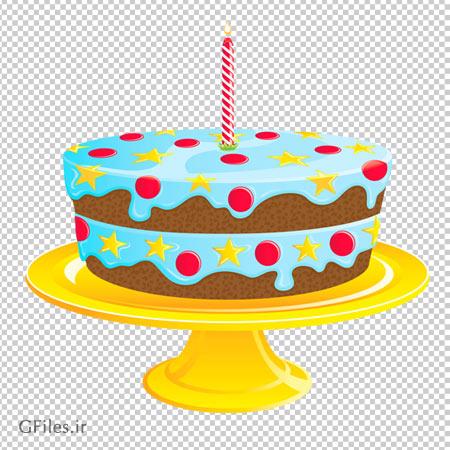 کیک گرد پایه طلایی بدون پس زمینه و فرمت png
