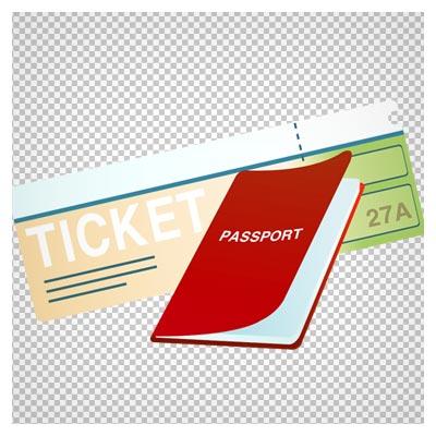 تصویر بلیط و پاسپورت کارتونی، دانلود بصورت فایل ترانسپرنت و بدون پس زمینه