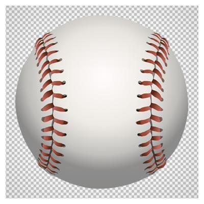 توپ سفید بیسبال، دانلود بصورت فایل ترانسپرنت بدون پس زمینه
