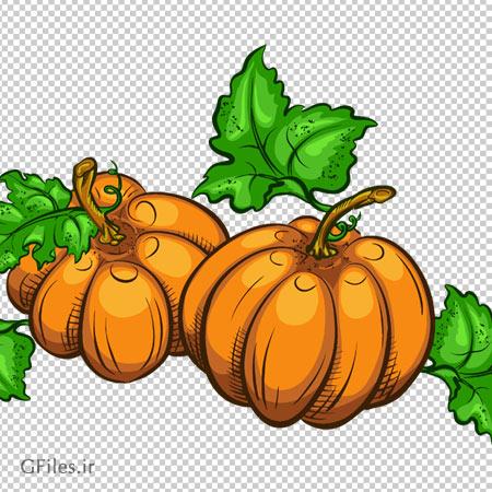 کدو تنبل تازه کارتونی ، دانلود بصورت فایل با پسوند png
