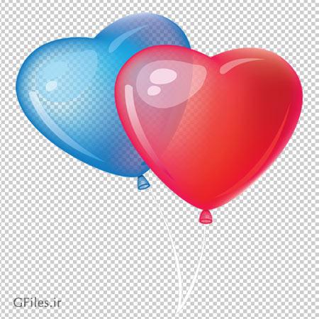 بادکنک های هلیومی قلبی شکل ، دانلود بصورت فایل دوربری شده فاقد بکگرند
