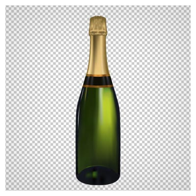 بطری نوشیدنی سبز رنگ ، دانلود بصورت فایل دوربری شده بدون بکگرند