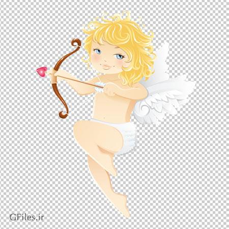 کودک فرشته ایستاده روی ابر ، دانلود بصورت فایل فاقد پس زمینه png