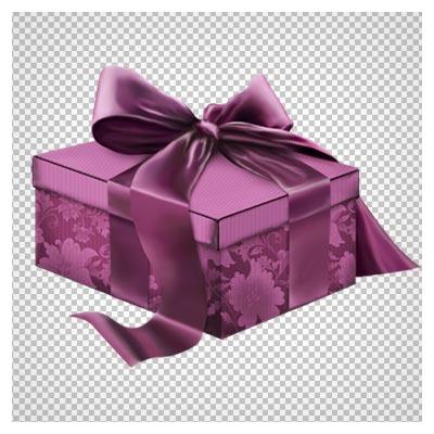 جعبه هدیه گلدار بنفش ، دانلود بصورت فایل دوربری شده