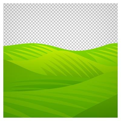 دانلود فایل دوربری شده تپه های وسیع چمنی سبز با فرمت png