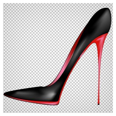 تصویر کفش پاشنه بلند زنانه مشکی بدون پس زمینه و فرمت png