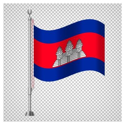 پرچم رومیزی کشور کامبوج ، دانلود بصورت فایل پی ان جی و فاقد پس زمینه