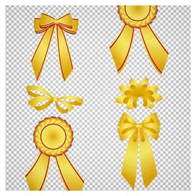 تصویر انواع ربان های طلایی ، دانلود بصورت فایل پی ان جی و دوربری شده