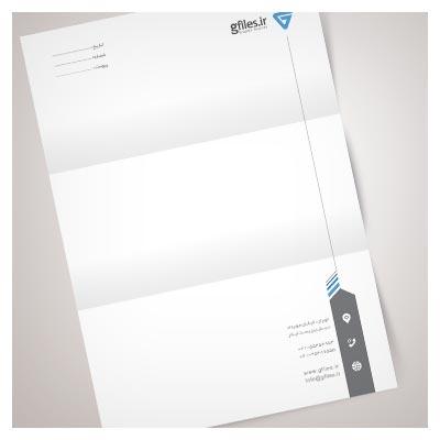 سربرگ تجاری لایه باز با فرمت PSD در سایزهای A4 و A5