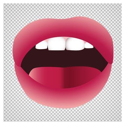 دانلود تصویر لب و دهان باز زنانه بدون پس زمینه با فرمت png