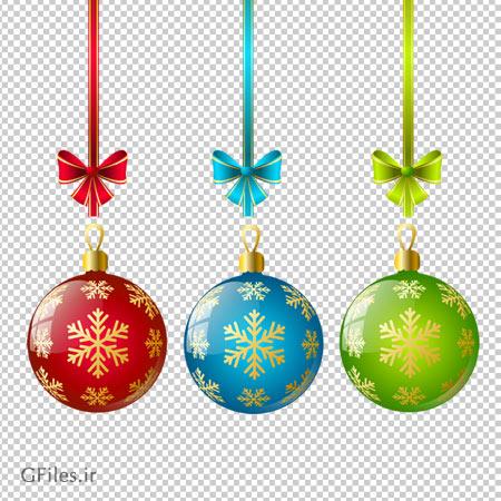 دانلود کلیپ آرت توپ های کریسمس با فرمت پی ان جی
