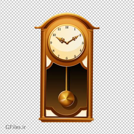 دانلود تصویر ساعت قدیمی دیواری آونگدار بدون پس زمینه