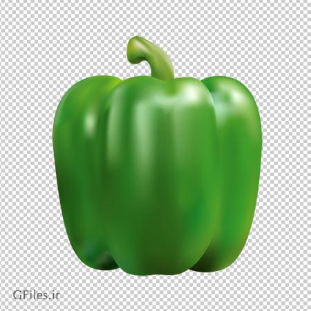 فایل پی ان جی فلفل دلمه سبز به صورت ترانسپرنت