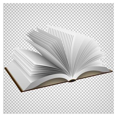 فایل پی ان جی کتاب باز بدون پس زمینه و دوربری شده