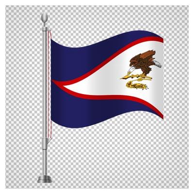 دانلود پرچم رومیزی ایستاده کشور ساموآی آمریکا با فرمت پی ان جی