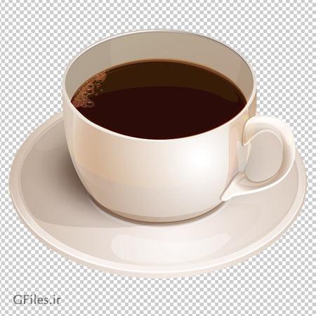 فایل پی ان جی فنجان قهوه بدون پس زمینه و دوربری شده